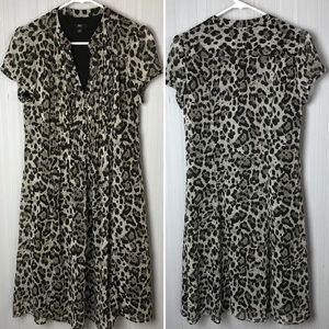 JBS Animal Print Cheetah Leopard A Line Dress 6